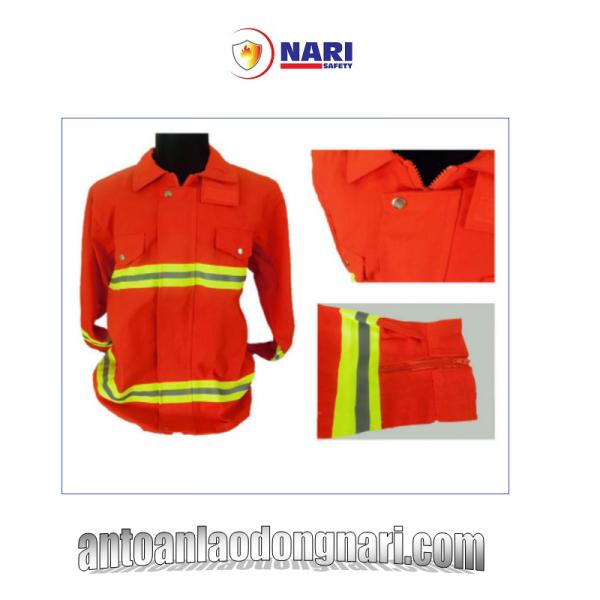 quần áo chống cháy nomex 300 độ màu cam