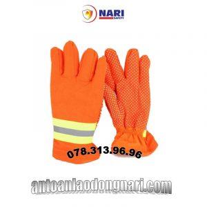găng tay chống cháy nomex màu cam cho lính cứu hỏa